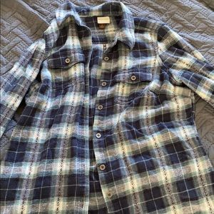 Blue plaid flannel. Small.